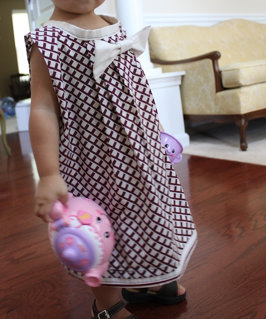 how to sew pleated bow pillowcase dress